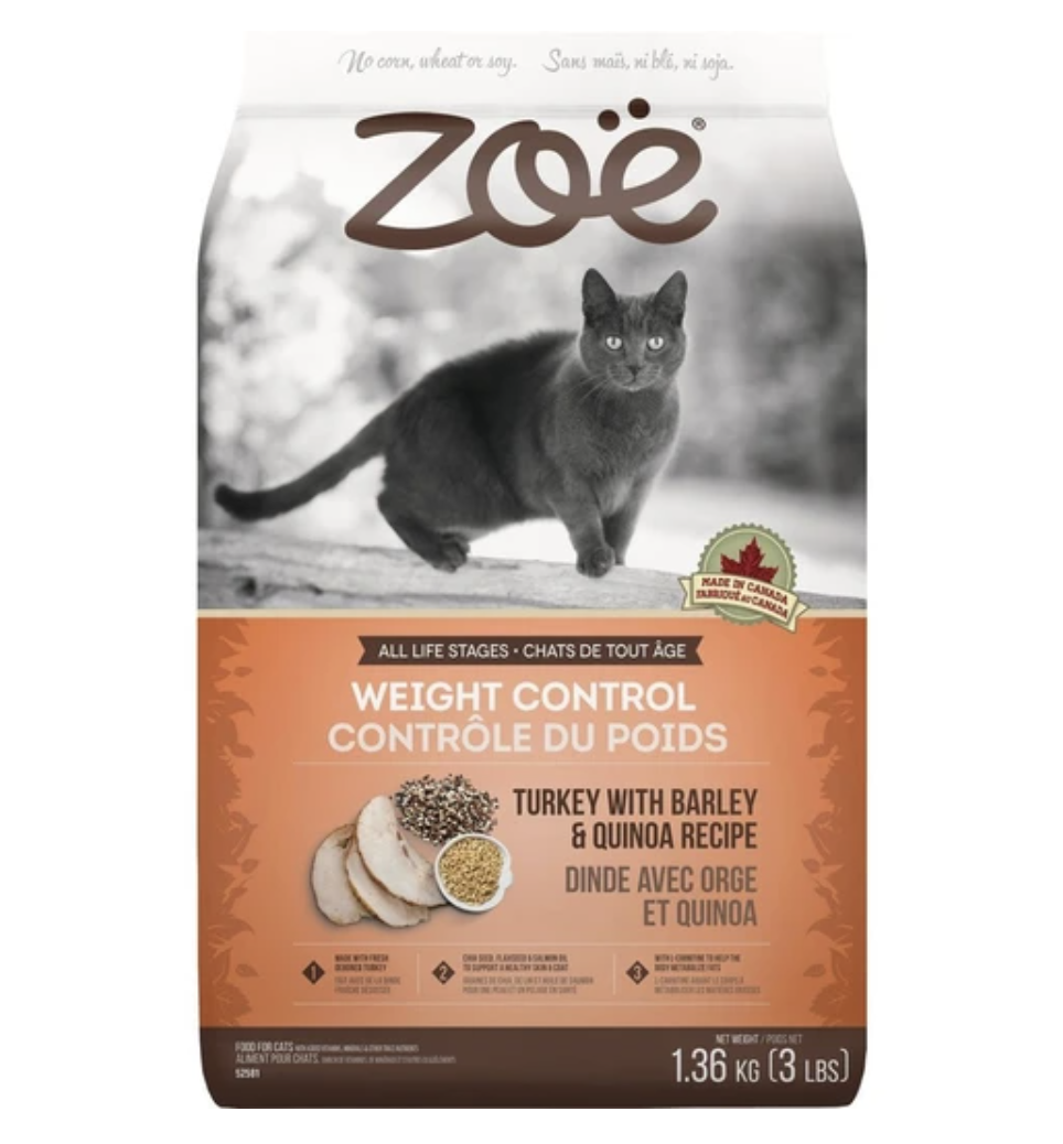 Zoe Weight Control Turkey With Barley & Quinoa Cat Food